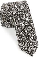 Topman Men's Floral Print Cotton Tie