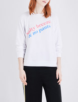 Wildfox Couture Salty Breeze & No Pants fleece sweatshirt