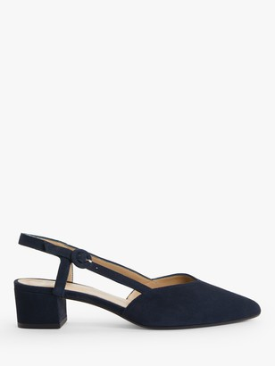 John Lewis & Partners Alyssa Low Heel Slingback Court Shoes