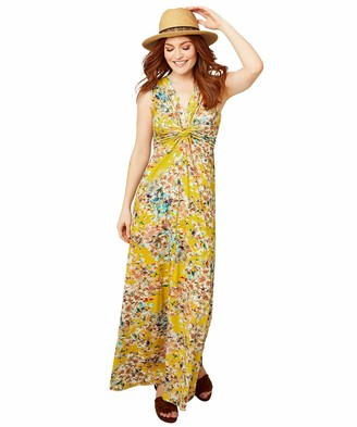 Joe Browns Women's Floral Twisted Knot Jersey Maxi Dress Casual