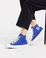 Converse Chuck Taylor All Star Hi Renew Denim Style Blue Sneakers