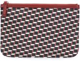 Pierre Hardy 'Canvas Cube' clutch - unisex - Calf Leather/Canvas - One Size