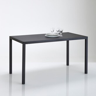 La Redoute Interieurs HIBA Dining Table in Matt Black Metal (Seats 4)