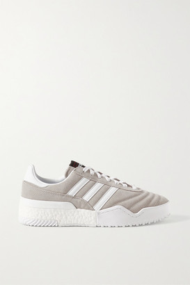 Adidas Originals By Alexander Wang Bball Soccer Leather-trimmed Suede Sneakers - Taupe