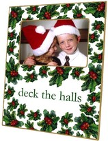 The Well Appointed House Holly and Berry Decoupage Photo Frame-Can Be Personalized