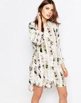 Vila Printed Stripe Shirt Dress