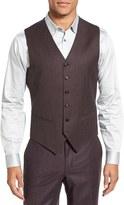 Ted Baker 'Jones' Trim Fit Solid Wool Vest