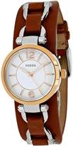 Fossil Georgia Artisan Collection ES3855 Women's Stainless Steel Analog Watch