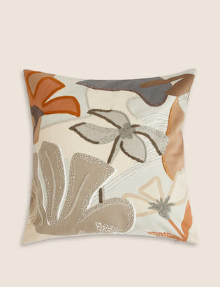 Marks and Spencer Eli Pure Cotton Embroidered Cushion