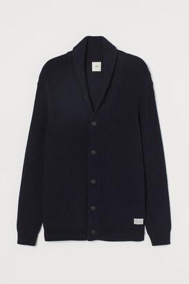 H&M Shawl-collar Cardigan - Blue