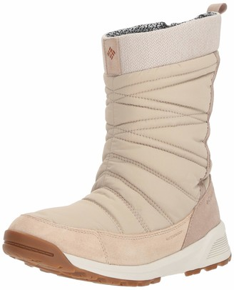 Columbia Women's Hiking Boots Waterproof MEADOWS SLIP-ON OMNI-HEAT 3D Beige (Ancient Fossil Bright Copper) Size: 8