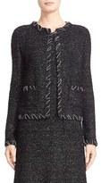 St. John Women's 'Mesto' Knit Jewel Neck Jacket