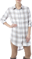Gentle Fawn Plaid Shirt Dress