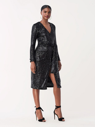 Diane von Furstenberg Melina Sequined Jersey Knee-Length Dress