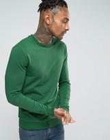 Asos Lightweight Muscle Sweatshirt In Green