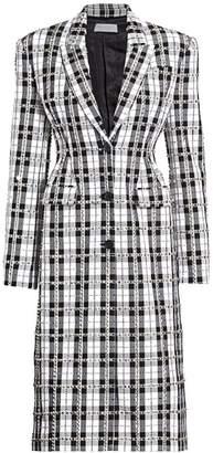 Michael Kors Stud Embellished Tartan Coat