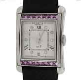 Bedat & Co Stainless Steel With Pink Sapphires and Diamonds Womens Watch