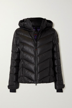 Bogner Fire & Ice Sassy Hooded Quilted Shell Down Ski Jacket - Black