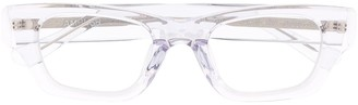 Ambush Rectangle-Frame Clear Glasses