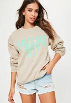 Missguided Salt Lake City Slogan Sweatshirt