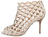 Sergio Rossi Leather Caged Booties