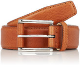 Barneys New York Men's Leather Belt-BROWN