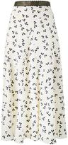 Roksanda Moraya floral print skirt - women - Silk/Leather - 8