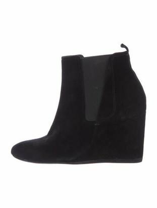 Lanvin Suede Chelsea Boots Black