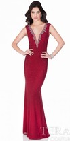 Terani Couture Dazzling Plunging V Evening Gown