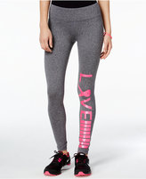 Material Girl Active Love Pink Ribbon Graphic Leggings, Only at Macy's