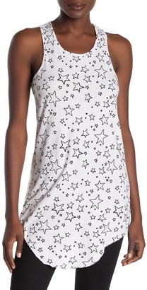Frank And Eileen Star Raw Hem Long Racerback Tank Top