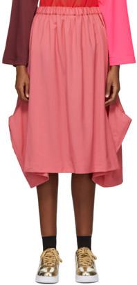 Comme des Garcons Pink Inside Out Pocket Skirt