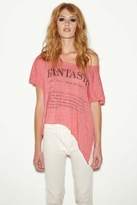 Rebel Yell Fantastic Raw Tee in Red