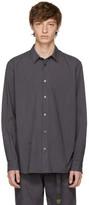 Robert Geller Grey Striped Dress Shirt