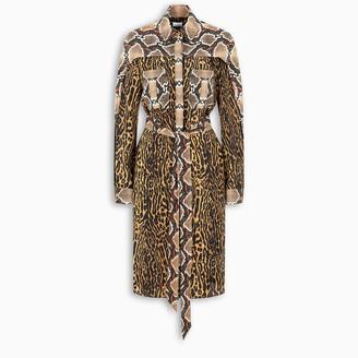 Burberry Animal print shirt-style dress