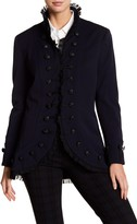 Insight Ruffle Accent Military Jacket