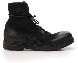 Marsèll Distressed Effect Lace-Up Boots