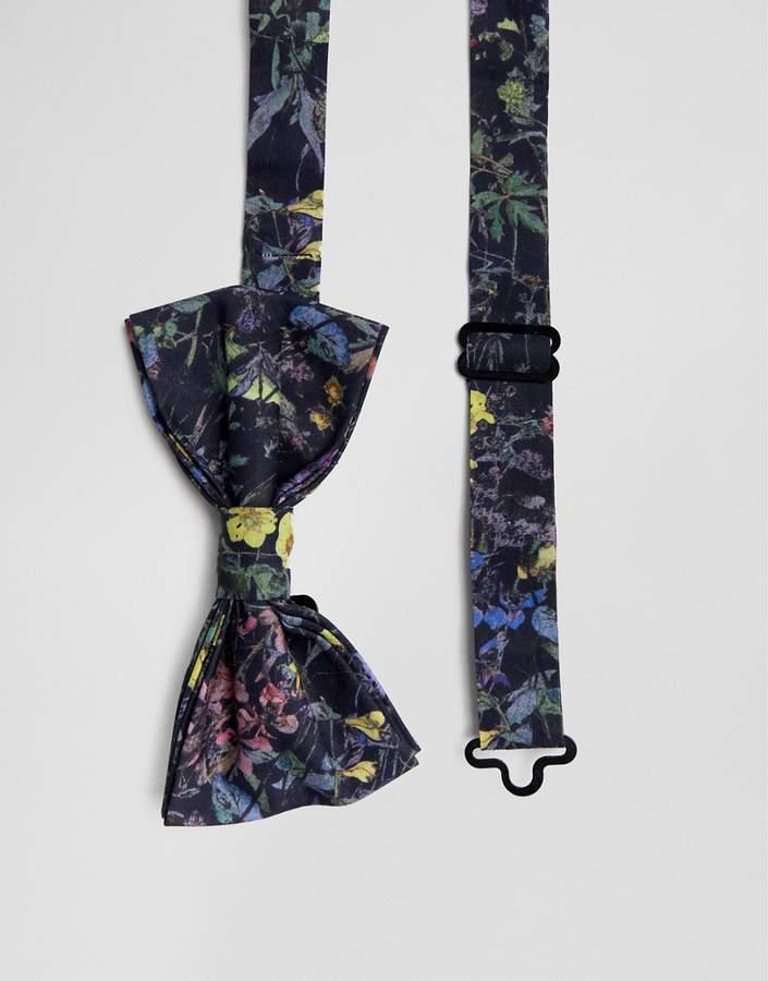 Gianni Feraud Liberty Print Wild Flowers Bow Tie