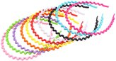 Candygirl Mixed Color Plastic Wave Shape Headbands