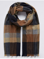 M&S Collection Overcheck Woven Blanket Scarf