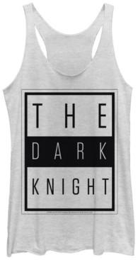 Fifth Sun Dc Batman The Dark Knight Text Poster Tri-Blend Women's Racerback Tank