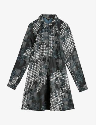 Ted Baker Medinaa houndstooth-print woven mini dress