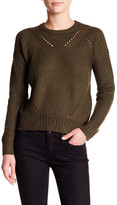 John & Jenn Ribbed Crew Neck Knit Sweater
