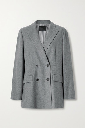 Joseph Jorgan Oversized Double-breasted Wool And Silk-blend Flannel Blazer - Gray