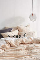 Anthropologie Textured Riji Duvet Cover