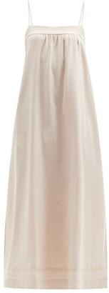 Casa Raki - Vicky Tie-back Side-slit Dress - Gold