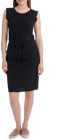 Jag Lace Trim Tee Dress with Drawstring