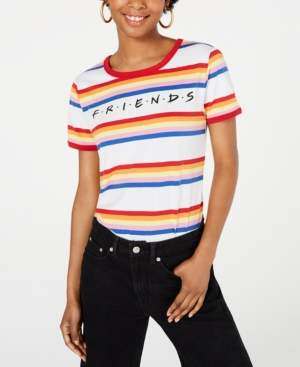 Warner Brothers Juniors' Friends Logo Rainbow-Striped T-Shirt by Love Tribe