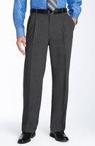 Ballin Men's Double Reverse Pleated Wool Twill Trousers