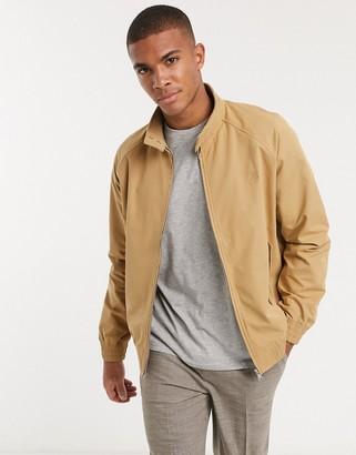 Topman harrington jacket in tan